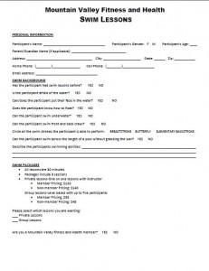 Swim Questionnaire